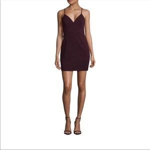 City Triangles Dresses - City Triangles Mini Bodycon Plum Dress/ Prom